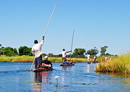 Okawango Delta i Botswana