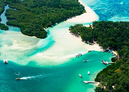 Mauritius hvide sandstrande