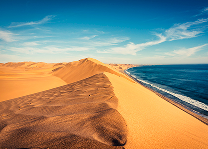 Namibias ørken ved Swakopmund