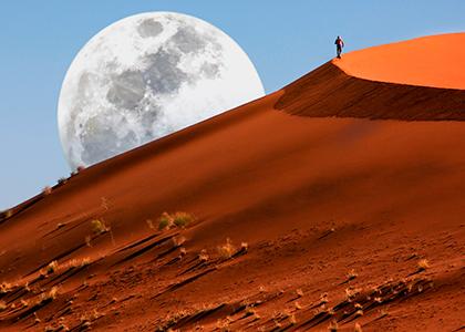 Vandring i Namib ørkenen