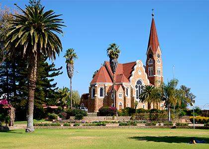 Kirke i Namibias hovedstad Windhoek