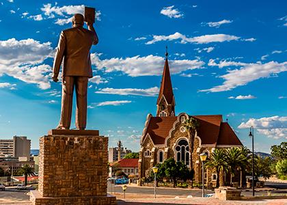 Monument af den første præsident i Namibia