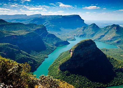 Udsigt over bjerge på Panorama Route, Sydafrika