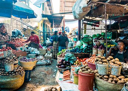 Markede i Arusha, Tanzania