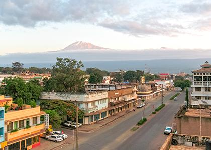 Mount Kilimanjaro fra Moshi