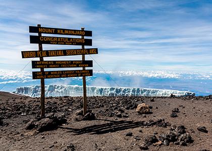 Uhuru Peak, toppen af Mount Kilimanjaro