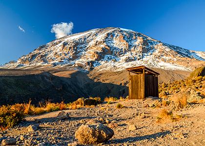 Udsigt over toppen af Kilimanjaro Uhuru Peak