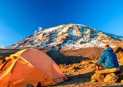 Udsigt over Uhuru Peak