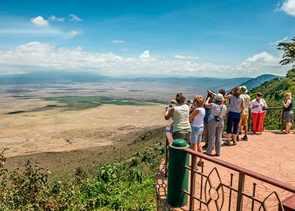 Udsigt til Ngorongoro crater