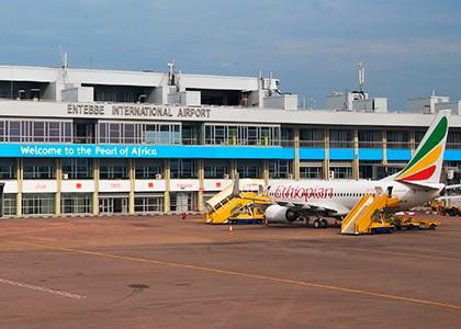 Entebbe lufthavn i Uganda
