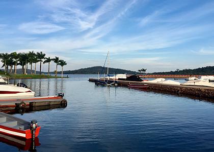 Entebbe havn i Uganda
