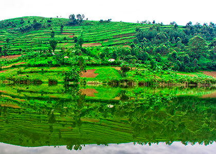 Lake Bunyonyi i Uganda