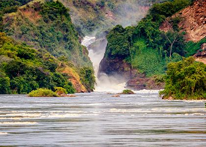 Vandfaldet Murchison Falls i Uganda