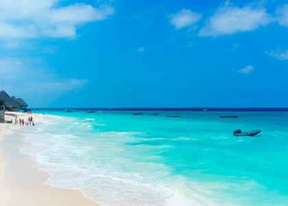 Nungwi strand på Zanzibar
