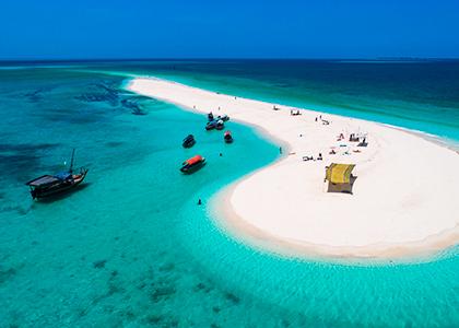 Sandbanke ved Zanzibar