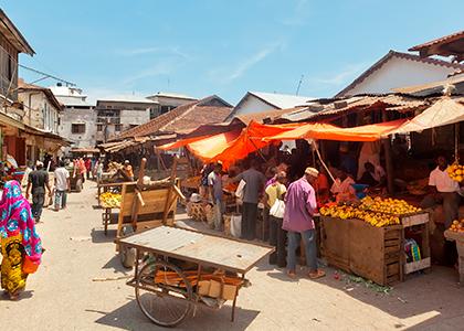 Madmarket i Stone Town, Zanzibar