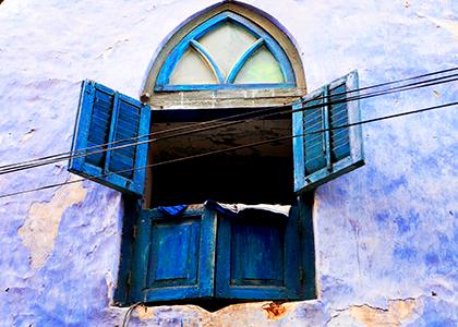 Traditionelt swahili vindue på Zanzibar